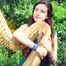 Musician - Harp,  the perfect instrument to create the atmosphere for your event